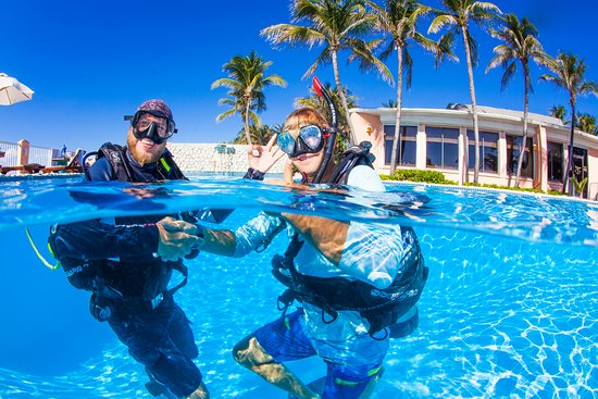 SCUBA certifications and more - Picture of Sunset Divers, Cayman ...