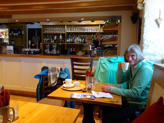 West Bexington, UK: latte and cappuchino