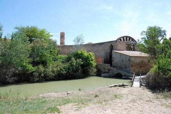 Sástago, España: Bras du Rio Ebre alimentant la roue