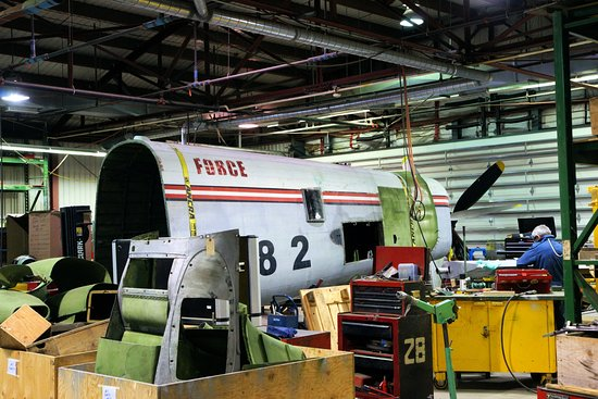 National Air Force Museum of Canada: Lancaster bomber under restoration