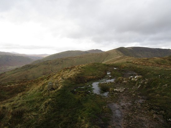 Grasmere, UK: Great Rigg and the ridge to Stone Arthur from Heron Pike in November