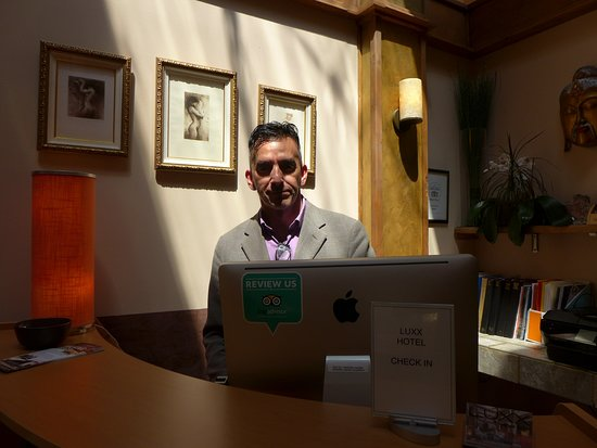 Louie Lopez, the operational manager - Picture of Luxx Hotel