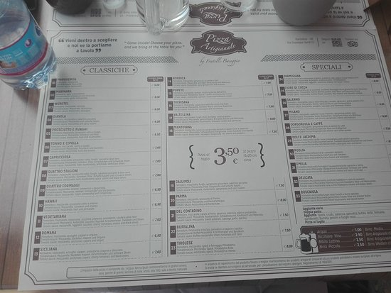Cisano, Ιταλία: menu