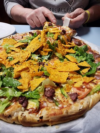 Pat/'s Pizza by Cat/'s Meow Orono,Maine Pizza Restaurant HTF Made in USA