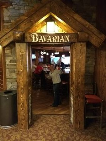 Seven Springs, PA: the entrance to Bavarian