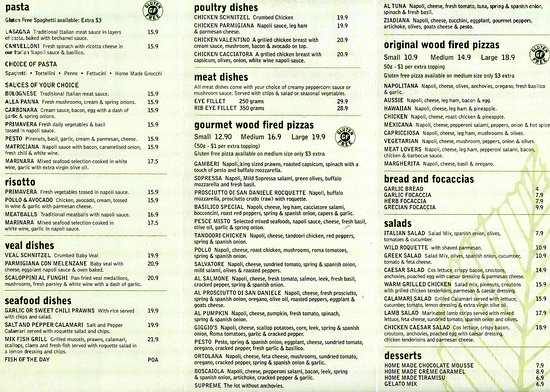 Basilico: Take away and delivery menu 2
