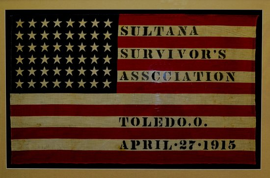 Marion, AR: Artifact from the Sultana Museum this flag is from the survivors reunions