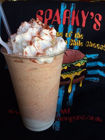 Hatch, NM: Guajillo red Chile and Mango Shake