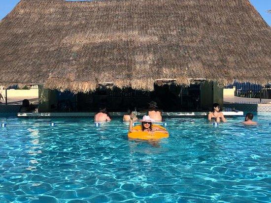 The Royal Caribbean : At the pool bar.