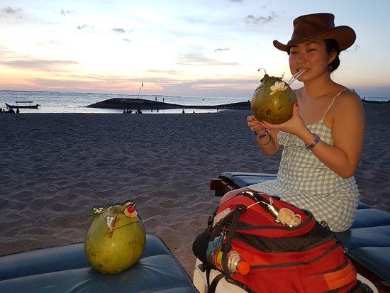 Nearby Kuta Beach (five minutes walk from hotel)