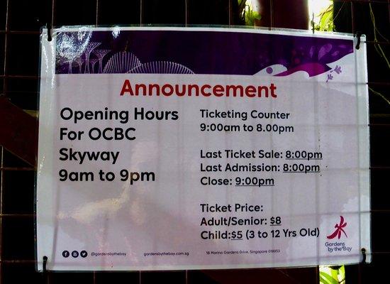 OCBC Skyway: Notice Board