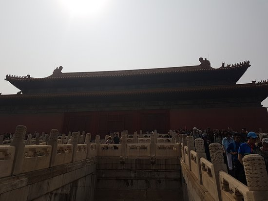 Hall of Preserving Harmony (Baohedian): Looking up at the Hall of Preserving Harmony