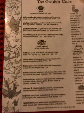 The Garden Cafe: Menu (p2 of 2)