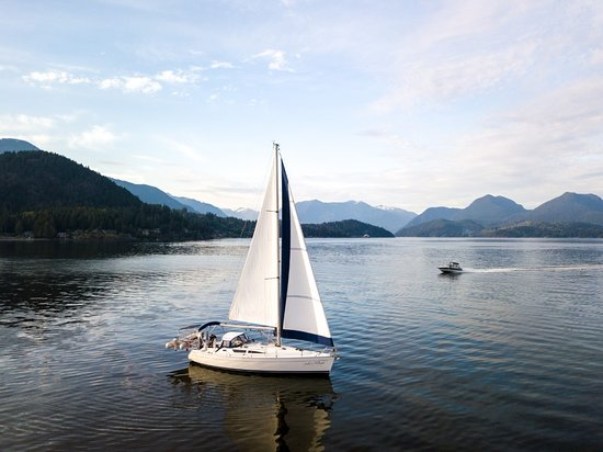 Our Jeanneau 40' near Gibsons BC