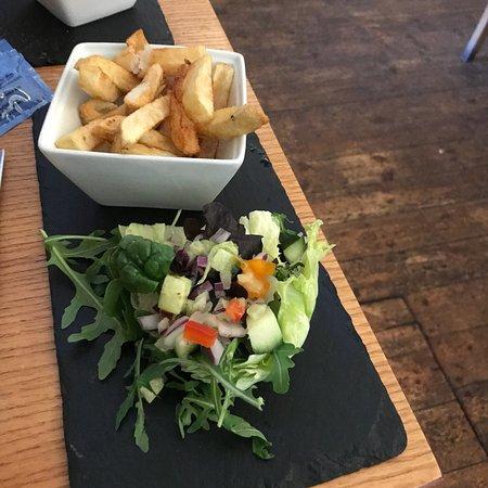 Stalham, UK: Steak sizzler. Delicious tender steak. Lovely salad dressing. Tasty chips. Very good meal