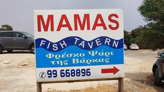 Agios Theodoros, Cipro: Mamas Fish Tavern