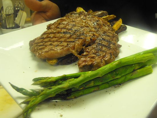 Rock Hall, MD: We hand cut all of our steaks in house. Grilled to your liking