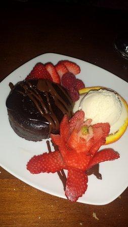 Chocolate Cake With Scope Of Ice Cream Beautiful Talented Design