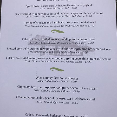 Knowstone, UK: The Masons Arms Restaurant