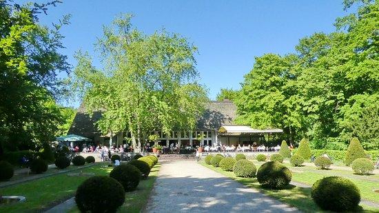 Building Of Das Teehaus Im Englischen Garten In The Middle Of