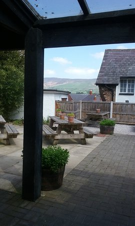 Myddelton Grill On The Square: Views from the rear seated garden area, amazing view