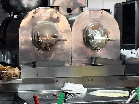 Glendale, WI: Vanilla and chocolate custard machines