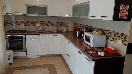 Cucina con elettrodomestici super nuovi - Picture of Villa Moldavia ...