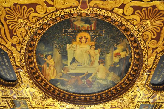 Wisconsin State Capitol : On the ceiling of Governor's Conference Room