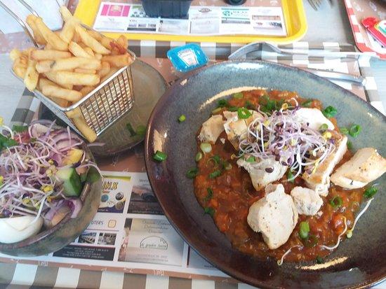 Wijshagen, België: kip provençaalse saus menu