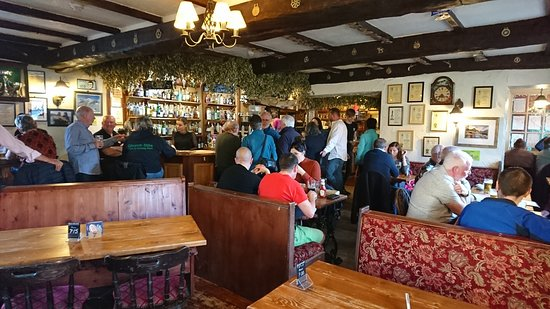 Nether Wasdale, UK: The dining area just before the Sunday Quiz