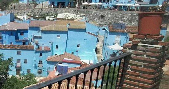 Juzcar, Espanha: vistas casas azules