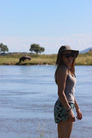 Mana Pools National Park, Zimbabwe: Hippo photo bomb