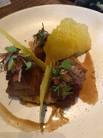 Osaka Cocina Nikkei: Pork belly with corn fritters - not one for the waist line!