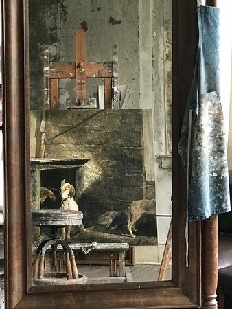 Chadds Ford, PA: Andrew Wyeth's easel with a perspective mirror