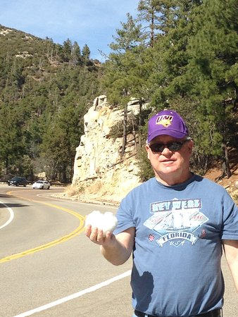 Mt. Lemmon Scenic Byway: Shorts and snow in March