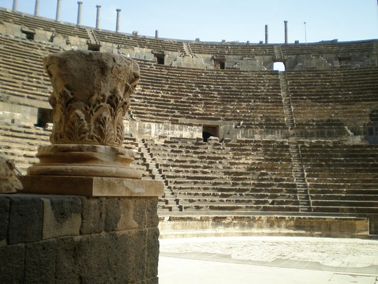Bosra, Syrie : from the stage view