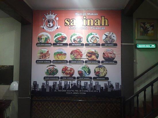 West Java, Indonesien: Poster pilihan menu
