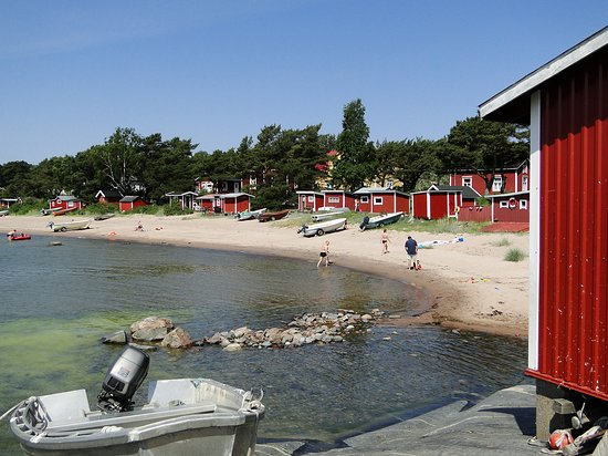 Hanko, ฟินแลนด์: Gunnarstrand in the summer