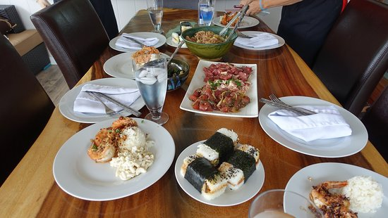 Hawaiian Style Cooking Classes : Our Hawiian home cooked feast