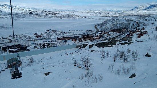 Norrbotten County, Sweden: Вид с кресельного подъемника.