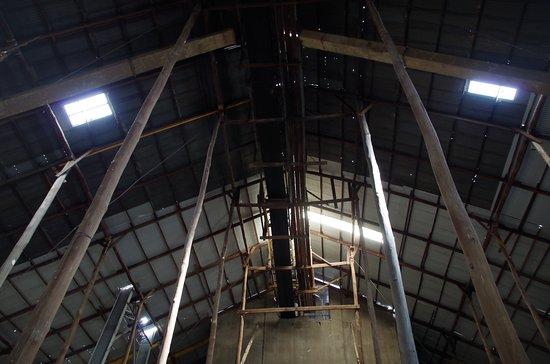 Murtoa, Australia: Top of shed where the grain was loaded