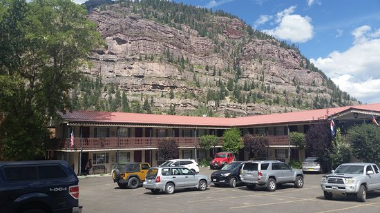 Ouray Chalet Inn: My orange Jeep