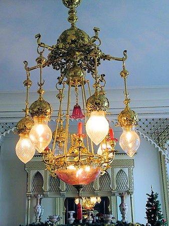 Jeffersonville, IN: chandelier in parlor or music room - beautiful
