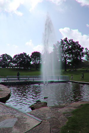 Pioneer Woman's Memorial: The dancing fountains