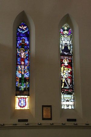 More stained-glass windows
