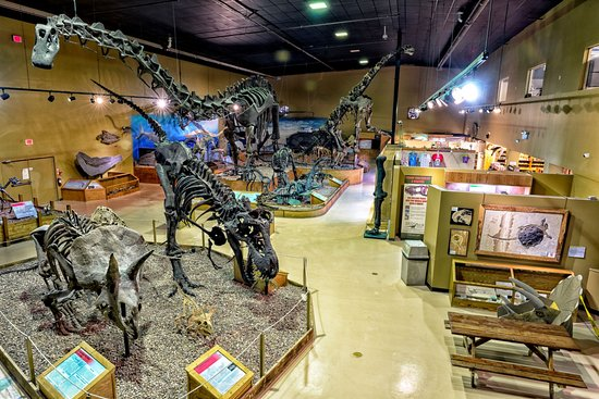 Thermopolis, WY: The main gallery at the WDC, including Jimbo the Supersaurus