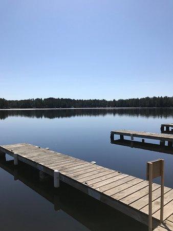 Three Lakes, WI: Deer Lake from the docks