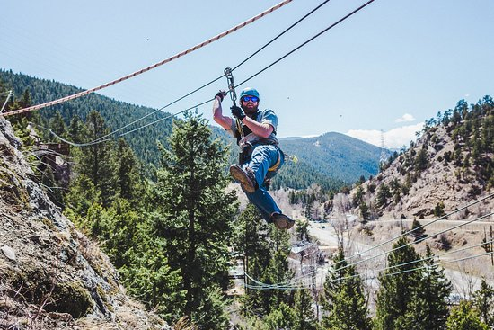 Idaho Springs, CO: Ziplining among the Rocky Mountains