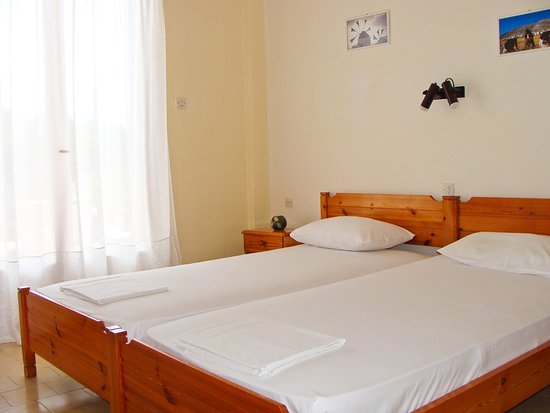 Kanapitsa, اليونان: 2 Single Beds Apartment - Bedroom