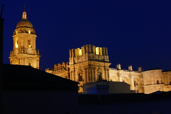 Don Curro Hotel: Malaga Cathedral from room